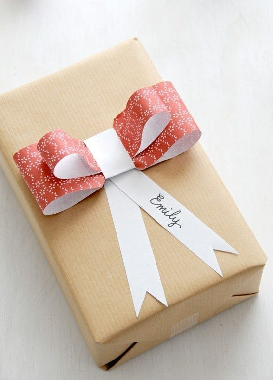 Creative DIY Gift wrapping idea with a paper bow. | Better to Give...