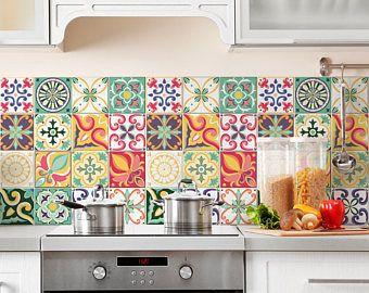 Les Meilleures Idées De La Catégorie Cuisine X Sur - Stickers carrelage cuisine 15x15 pour idees de deco de cuisine