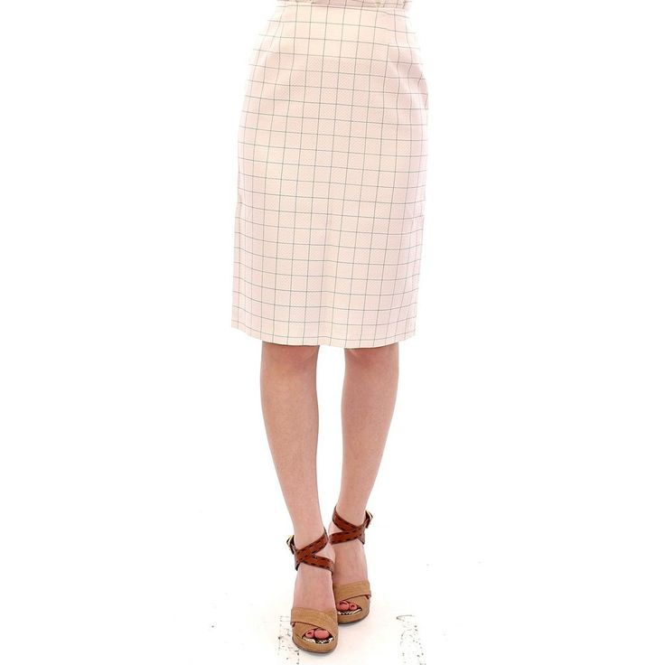Andrea Incontri White Cotton Checkered Pencil Skirt Trends: #$200-$300 #Apparel #GethudaFashions #IT40|S #IT42|M #Modalyst #Pencil #Skirts #Women Gethuda Fashions from #Aiyza Clothing Couturier