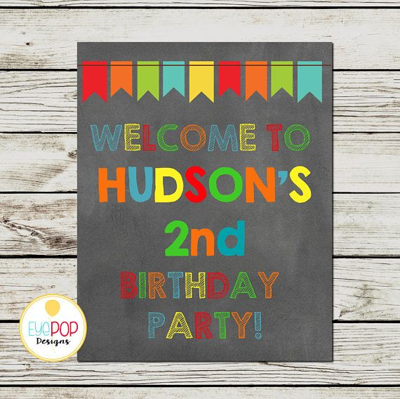 BOUNCE HOUSE Welcome Sign, Birthday, Jumping Birthday Party, Jump Party, Colorful, Chalkboard, Printable
