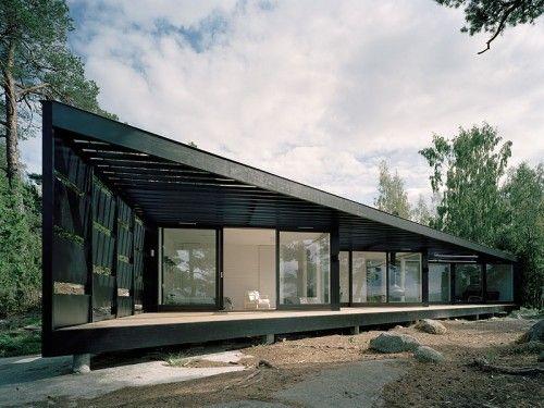 modern zig-zag geometrical summerhouse design construction
