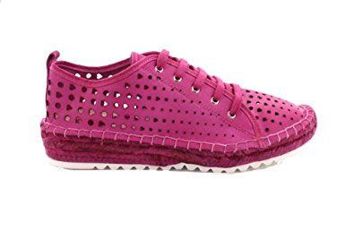Agilis Barcelona Huebra Womens Perforated Italian Leather Laced Up Bamboo Espedrille Shoes Fashion Sneakers With Memory Insole Review