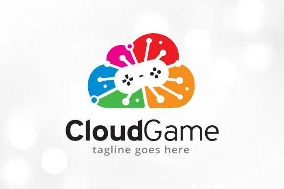 Cloud Game Logo Template by @Graphicsauthor