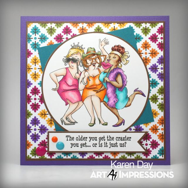 Rubber Stamp Card Making Ideas Part - 37: Art Impressions Rubber Stamps: (sku# U4765) Flaunt It Set... Art  Impressions StampsFunny CardsKaren ...