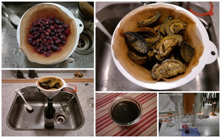 HAVEHJERNEN - snaps på valnød og snaps på blåbær. Blueberry and walnut schnaps