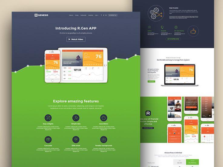 AppLead Landing Pages by R.Genesis