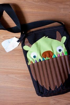 So happy.: Monster Art Tote