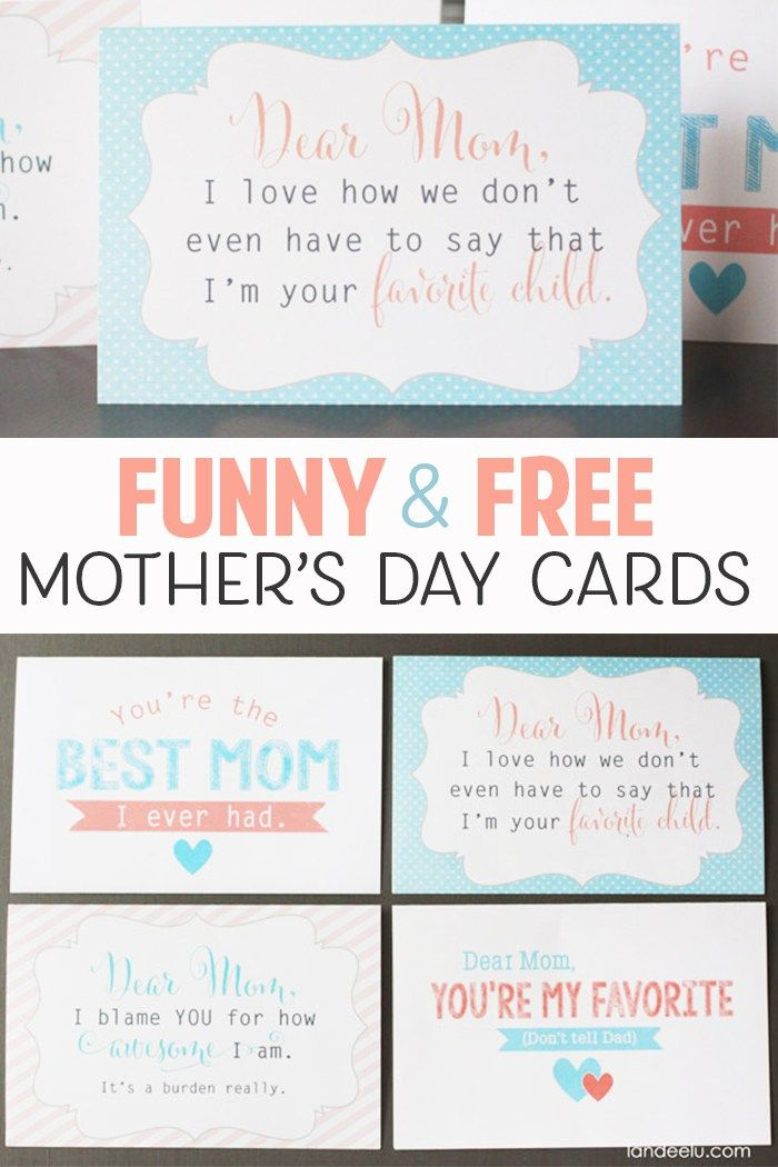 picture relating to Printable Funny Mothers Day Cards known as Cost-free printable moms working day playing cards Pinterest Favorites