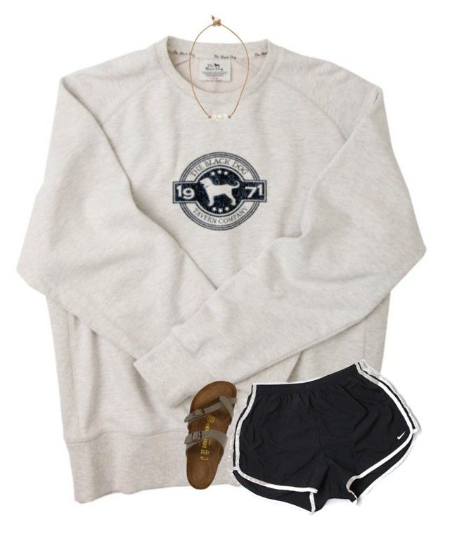 """""""{lazy Sunday afternoon}"""" by southerngirl03 ❤ liked on Polyvore featuring NIKE, Birkenstock and Lead"""