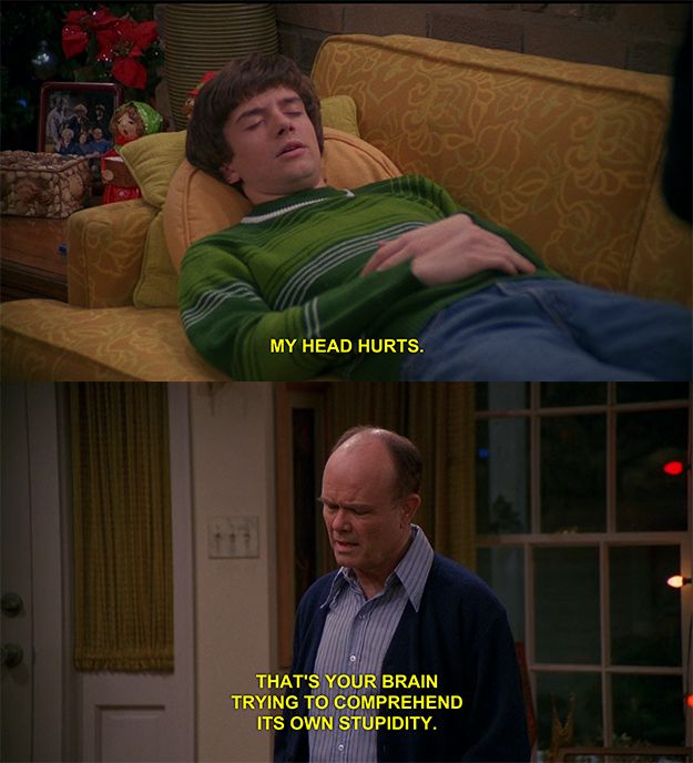 """This classic Red-Eric interaction. 