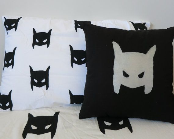 Superhero cushion by AliJoyKids on Etsy