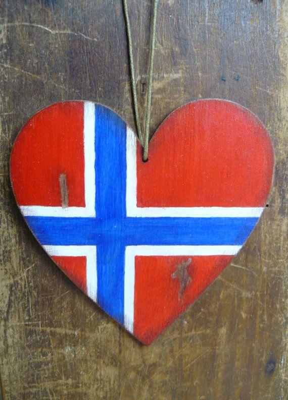 Norwegische Kofferanhänger norwegische Flagge Anhänger Hand