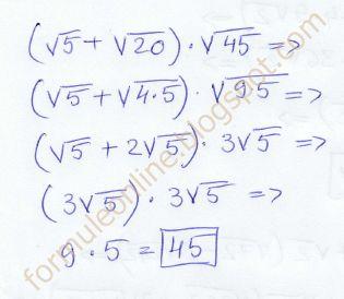 formuleonline probleme si exercitii rezolvate: Inmultirea radicalilor clasa a 8-a exercitiu rezol...