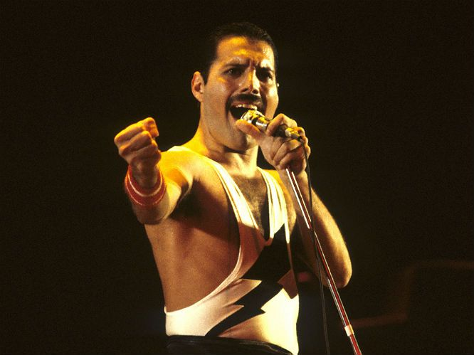 Gigwise greatest frontmen of rock - #1. Freddie Mercury, Queen: The archetypal frontman whose each every electric move embodied the true life-affirming spirit of rock. He ran on the glamour and flamboyance of what it is to be a superstar, but carried it all with a very human grace and romance. A yellow jacket, a moustache and sawn-off mic stand may have made him an icon, but it was his voice, spirit and attitude that makes him the greatest frontman of all time. We may never see his kind…