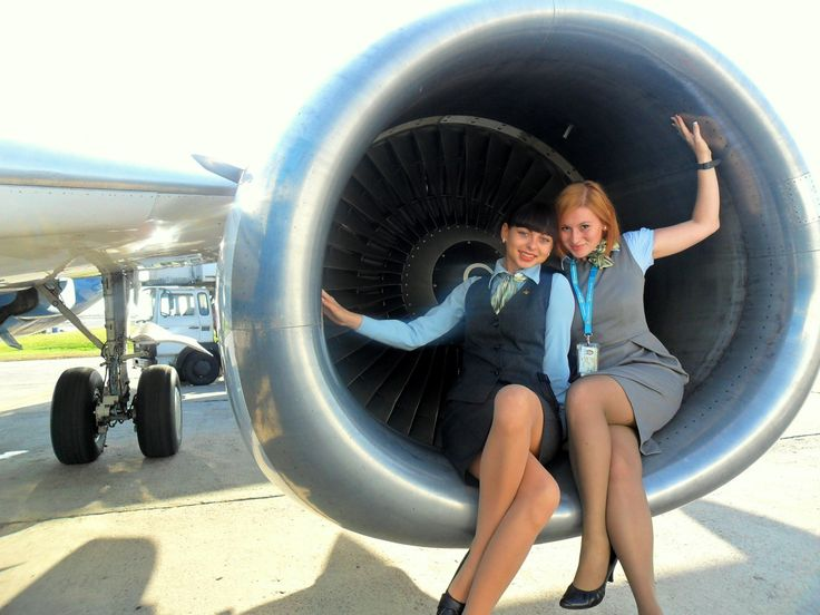 Air stewardess fucked by management - 3 part 4