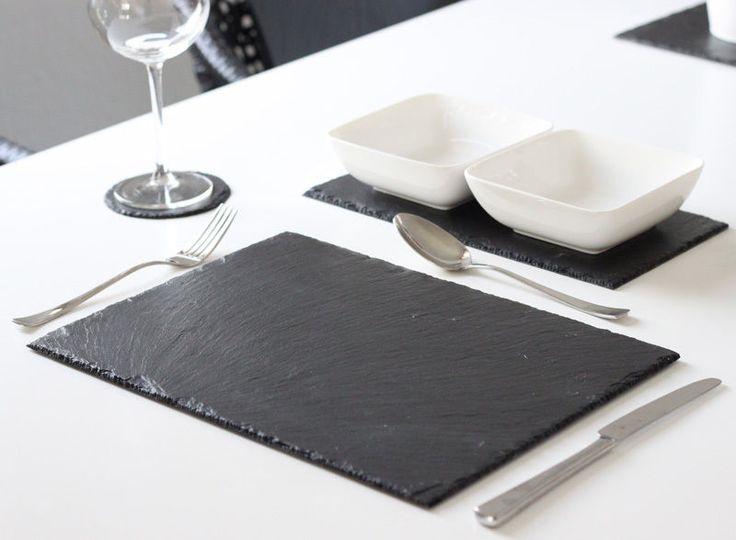Details Zu 4 Stk Schiefer Platzset Tischset 40x30 Untersetzer  Schieferplatten