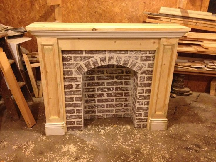 If You're Going To Make It, Better Fake It--DIY Faux Brick Fireplace