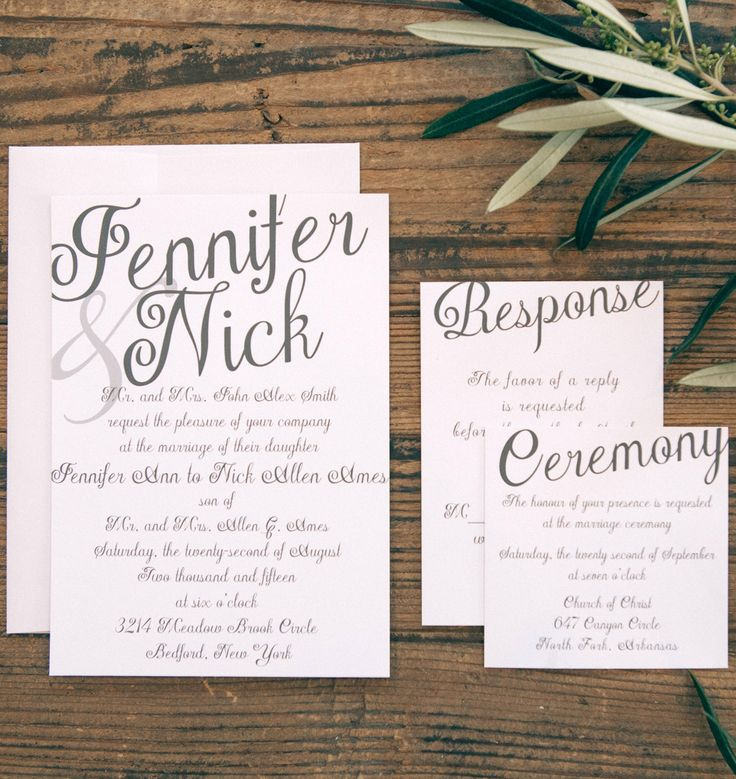 email wedding invitation to work colleagues%0A The Plain Elegance Wedding Invitation