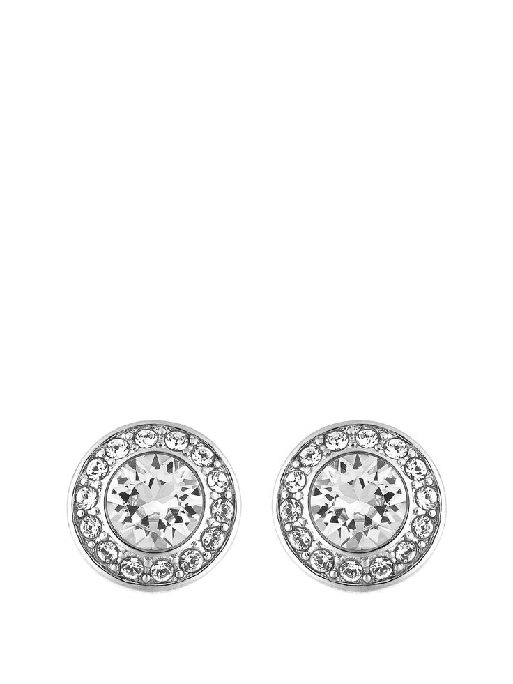 These Lola and Grace Rhodium Plated Pave Stud Earrings with Swarovski Elements will keep you sparkling from day until night. Simple and elegant, these earrings were designed with the 1930s in mind. A modern take on a classic style, these eye-catching studs demand attention.1 cm in diameter, they can comfortably be worn with casual and glamorous outfits alike.Spoil yourself, or give these as a thoughtful gift. We also carry the matching collier necklace and bracelet - see products 4WNUV and…