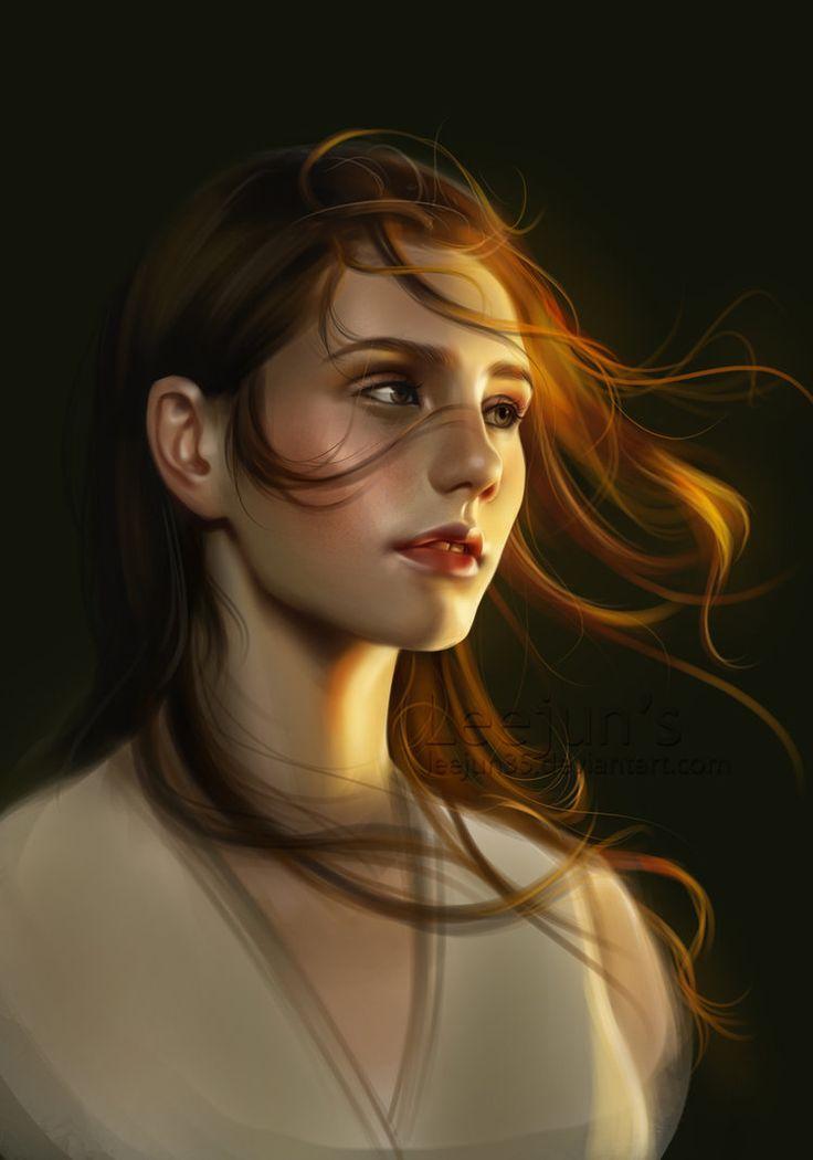 Girl Portrait by leejun35.deviantart.com on @DeviantArt