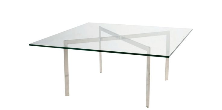 Mesa auxiliar diseñada por Ludwig Mies van der Rohe, se trata d un juego de tres objetos, ya que hace compañía a la Silla Barcelona y a la Otomana. Se trata de un diseño sencillo, estético, funcional y sobre todo lujoso, como la mayor parte de las obras de Van der Rohe.