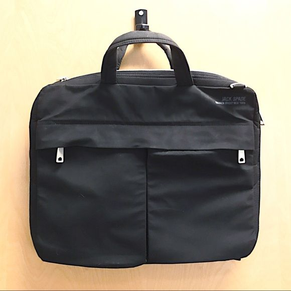 Jack Spade Warren Street NY Laptop Bag This is a great looking Jack Spade laptop bag. It has a small rip where the shoulder strap attaches to the bag, very easily fixable. The price drop should be appropriate for the problem. Jack Spade Bags
