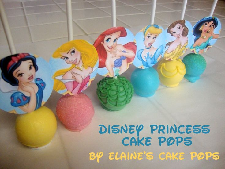 Pint Sized Baker: Disney Princess Cake Pops by Elaine's Cake Pops tutorial + download