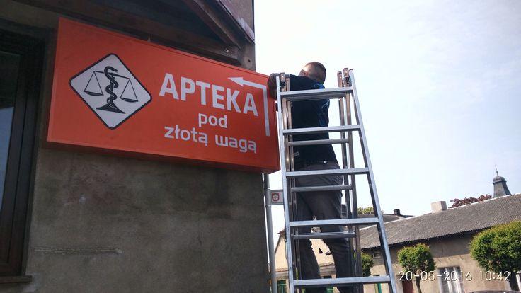 Projektujemy, montujemy #kaseton #reklamowy Działamy na terenie #konin Agencja reklamowa #b6 www.b-6.pl