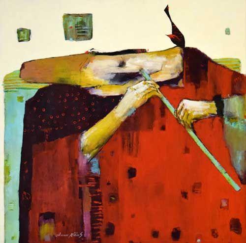 Ammar Alnahhas – Darwis, 100 x 100 cm, pictură in ulei