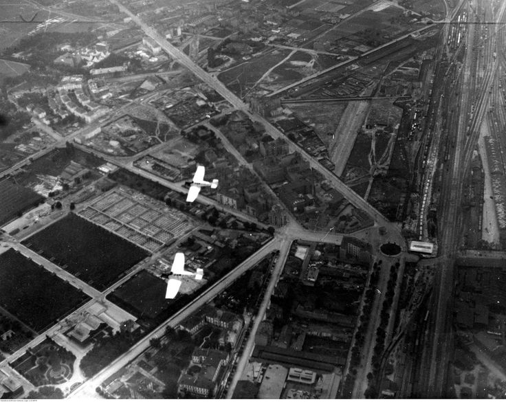 Warszawa - Ochota, Filtry oraz Aleje Jerozolimskie, plac Zawiszy oraz Rogatki Jerozolimskie, fot. z Archiwum IKC (1925)