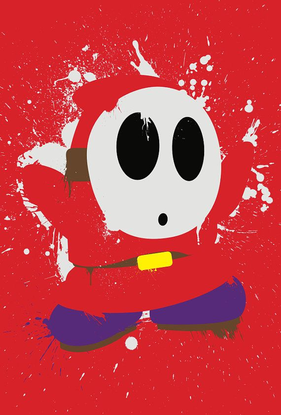 Splattery Shy Guy MiniPrint 3Pack by TheDailyRobot on Etsy, $9.00