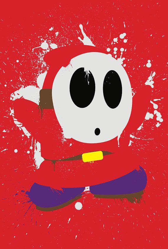Splattery Shy Guy MiniPrint 3Pack by TheDailyRobot on Etsy, $9.00