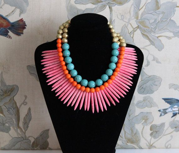neon statement necklace by Noble House Designs
