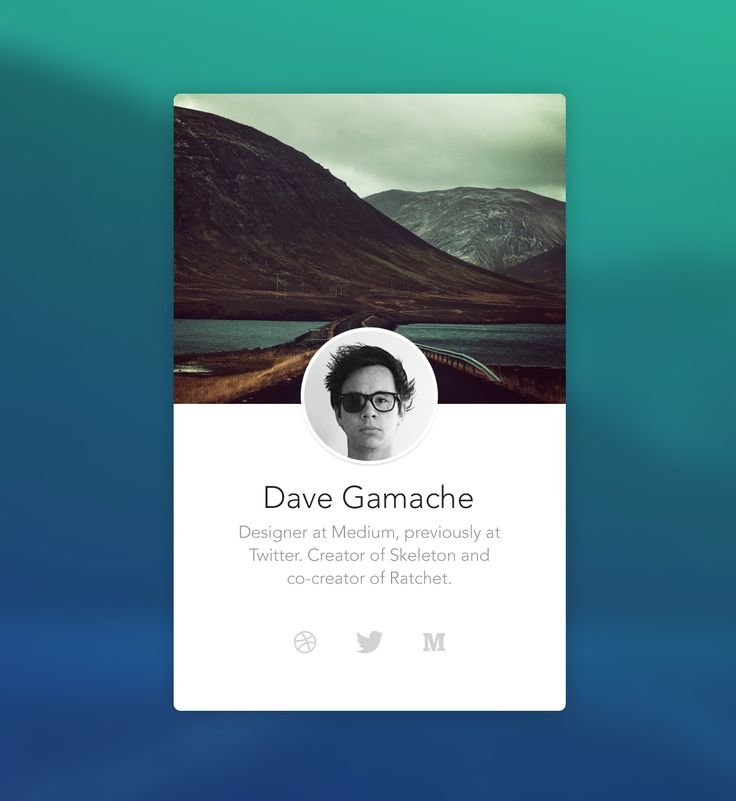 Dave Gamache - Abandoned Personal Site Idea