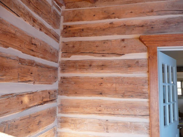 how step cabin a hunker to cabins chinking chink log