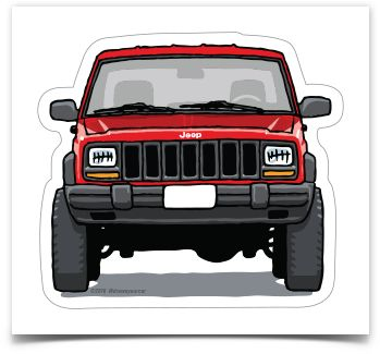 The classic Jeep XJ Cherokee is immortalized here and forever as a durable…