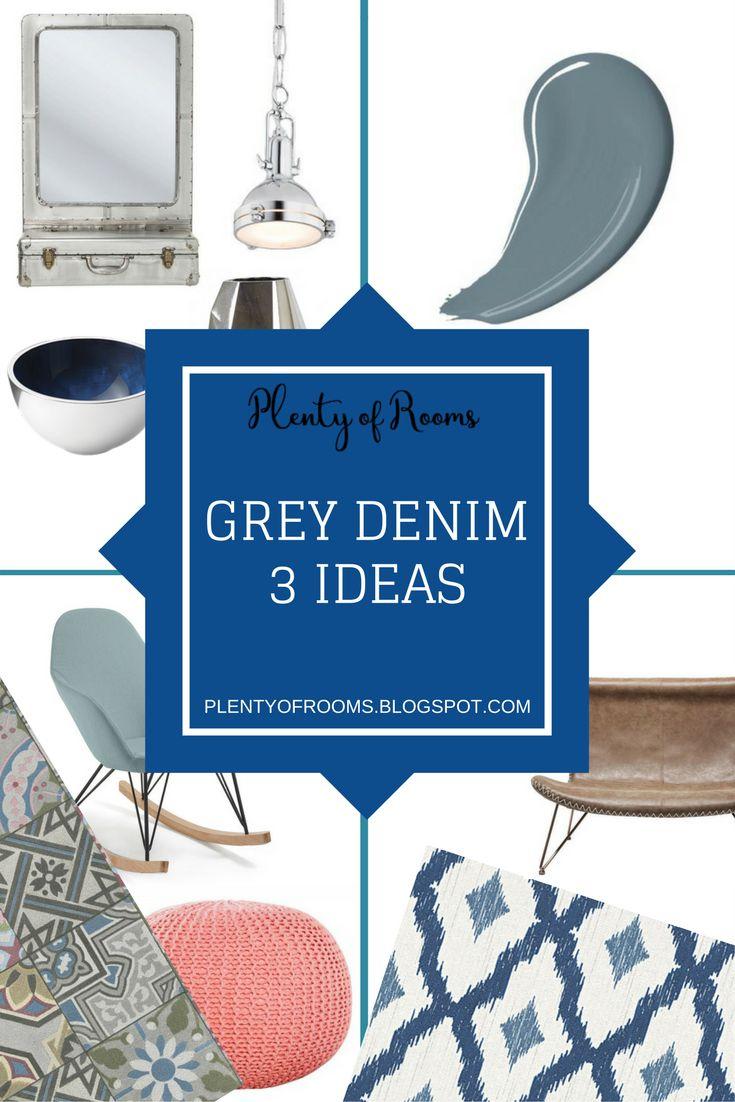Kolor roku Dulux 2017 - Grey Denim - w 3 aranżacjach
