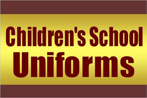 Children's School Uniforms Banner