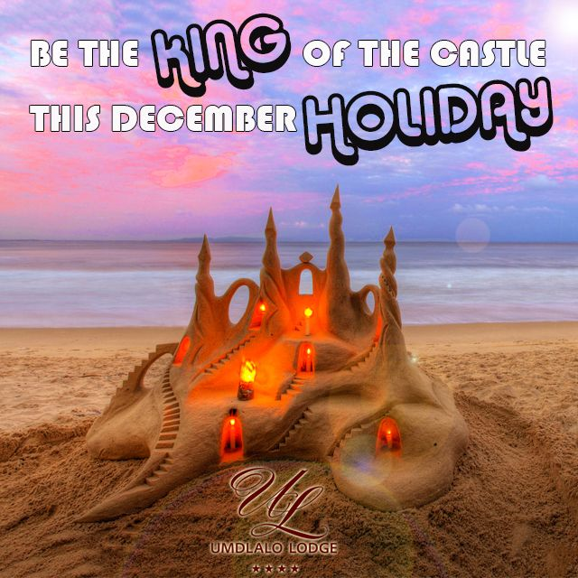 Be the #king of your own #sandcastle this #December #holiday! We are based within walking distance from the #beach. #IloveSA #Durban
