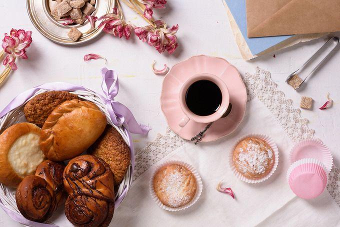 coffee & cupcakes by Iuliia Leonova on @creativemarket