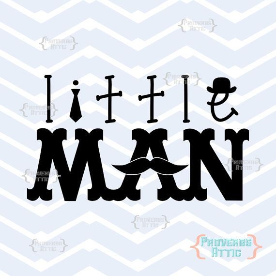 Little Man with Mustache Tie Hat boy baby vinyl by ProverbsAttic