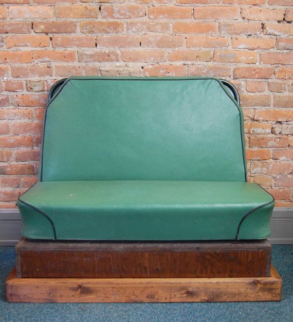 Upcycled+Vintage+School+Bus+Seat+Bench+by+maryandmarge+on+Etsy,+$228.00