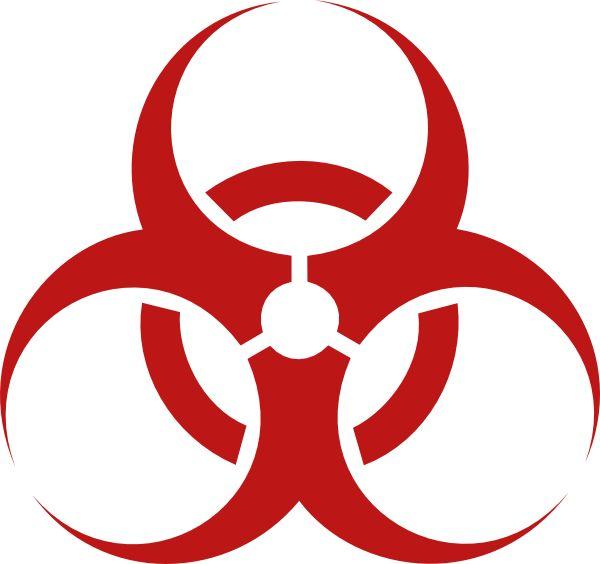 biohazard symbol | Red Biohazard clip art
