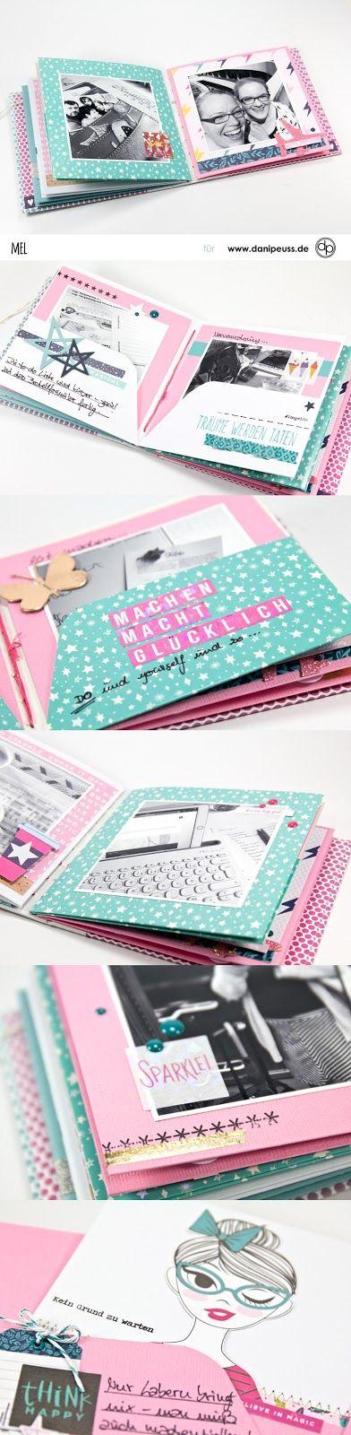 Minialbum mit dem danipeuss Novemberkit von Melanie Hoch für www.danipeuss.de
