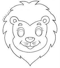 Resultado de imagen para mascaras de animales para imprimir y colorear