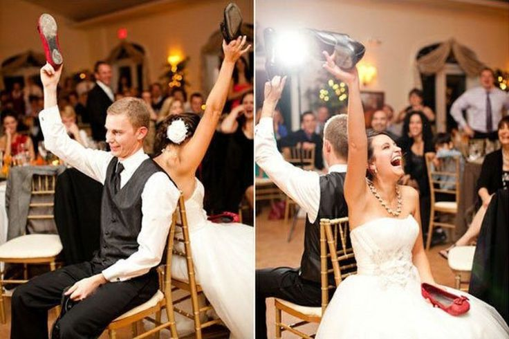 15+ Ways to Make Your Reception More Fun | Bridal Guide...fun game for bride and groom, everyone gets to watch and laugh