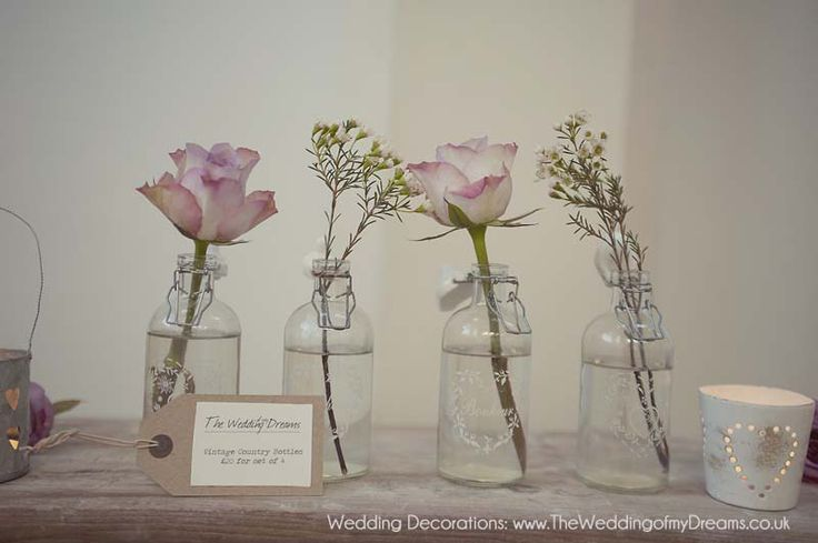Inspiração vintage para casamento: com garrafinhas