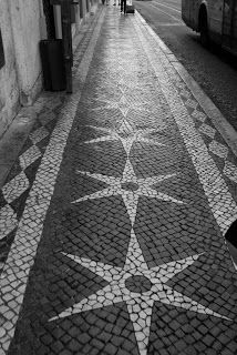 A sweet escape: Lisbon cobblestone sideways, Portugal