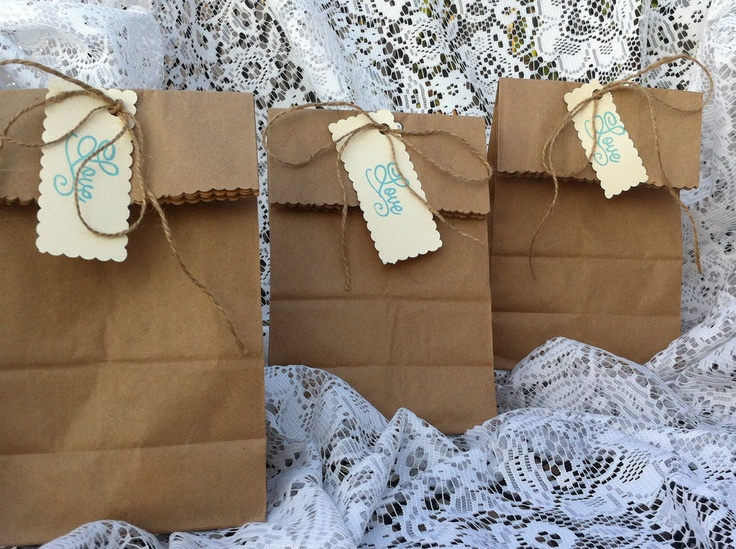 Shabby Chic Wedding Baby Shower Favor Bags Baby On