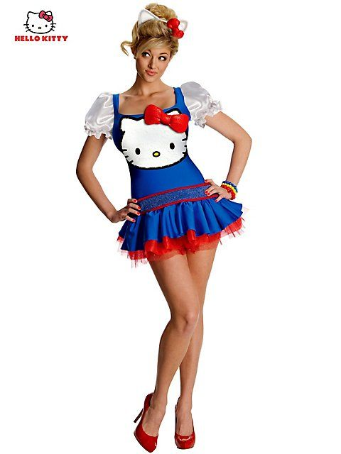 sexy hello kitty for halloween sexy blue classic hello kitty costume style r880285 - Halloween Hello Kitty Costume